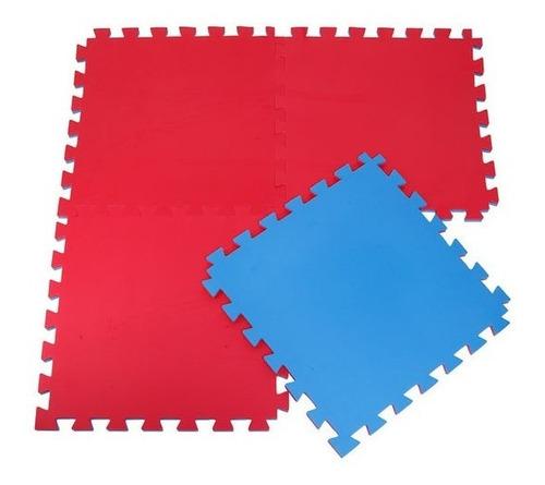 Tatame Tapete Eva Grande 1x1 30mm Azul Vermelho Original
