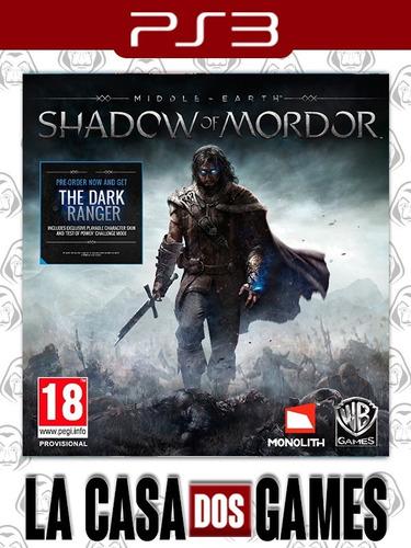 Middle-earth Shadow Of Mordor - Psn Ps3 - Envio Imediato Original