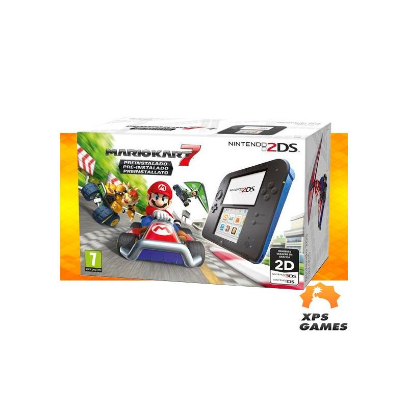 Nintendo 2ds - Edição Mario Kart 7 + 40 Jogos Instalados