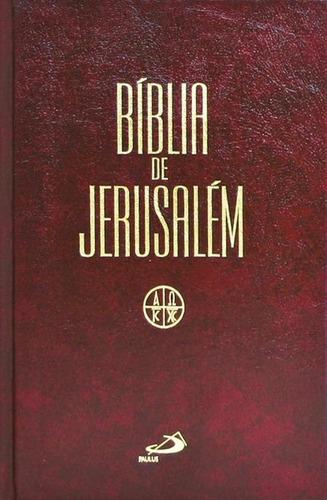 Bíblia De Jerusalém Média Encadernada Ed Paulus .biblos