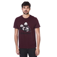 Camiseta Long Island Panda Bordô