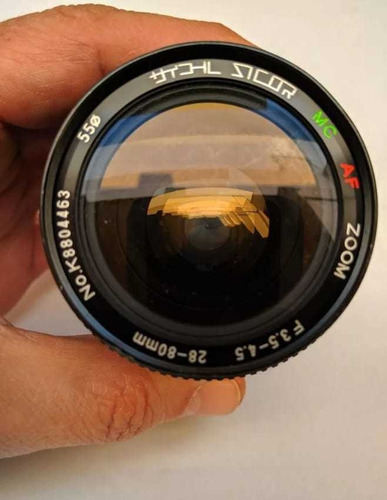 Lente Objetiva Sicor 28/80 Mc Af Zoom F:3.5-4.5 Macro , Original