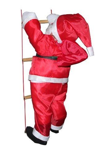 Papai Noel Subindo As Escadas 90 Cm Natal Promoção Decoração Original