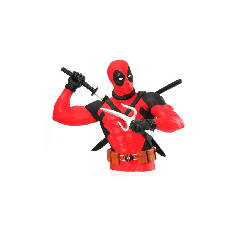 Busto Cofre Deadpool - Bust Bank Monogram  - Marvel