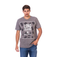 Camiseta Long Island Free Cinza