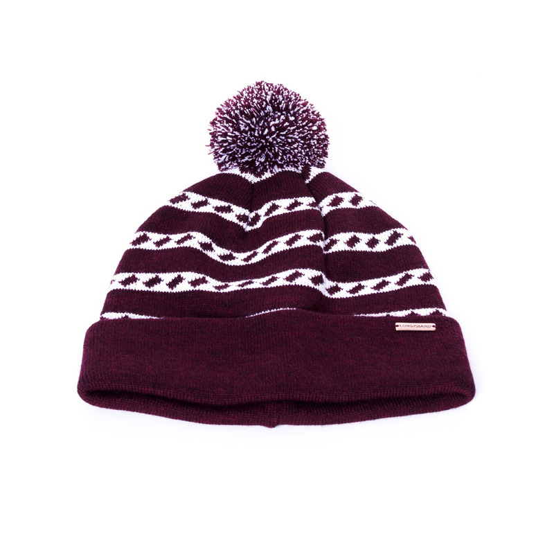 Gorro Long Island Tricot Bordô