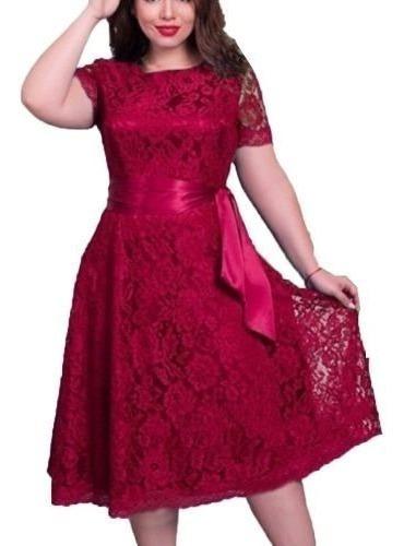 Vestido Plus Size Casamento Formatura Renda Rodado Civil /26 Original