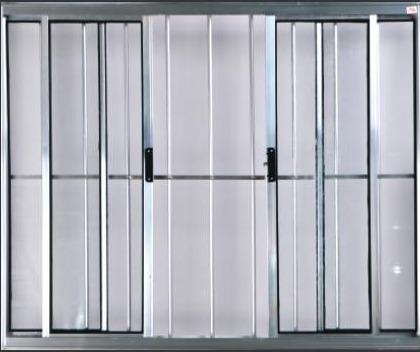 Vitro 4 Folhas 1,00 X 1,20 Com Grade Alumínio Brilhante Original