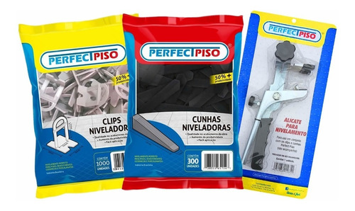 Nivelador De Piso 2.400 Clips 400 Cunhas + 01 Alicate Original