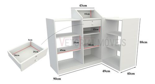 Balcão Caixa Vitrine Modular M1 100% Mdf (expositor, Loja) Original