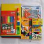 Kit Material Escolar Volta As Aulas Cadernos E Canetas