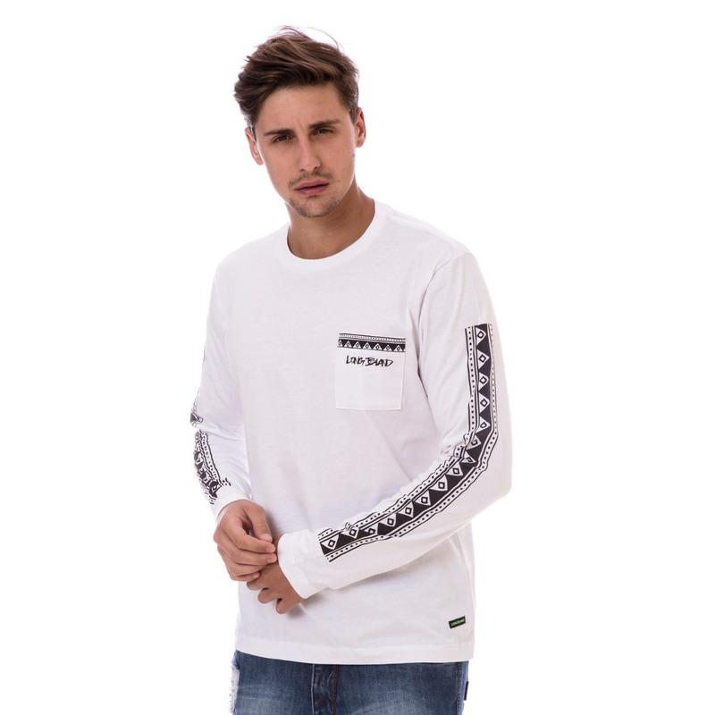 Camiseta Manga Longa Long Island Branca