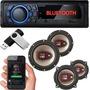 Som Automotivo Bluetooth Carro Usb Kit Alto Fantes Bravox