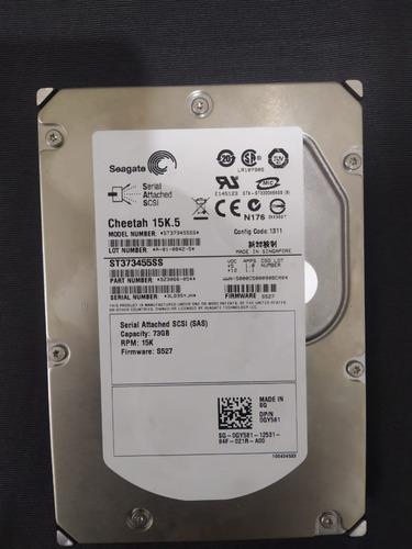 Hd Dell Seagate 3.5 73gb 15k Sas St373455ss 9z3066-054 Original