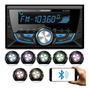 Auto Rádio 2 Din Roadstar Rs3707br Bt Usb Sd Fm Mp3 7 Cores