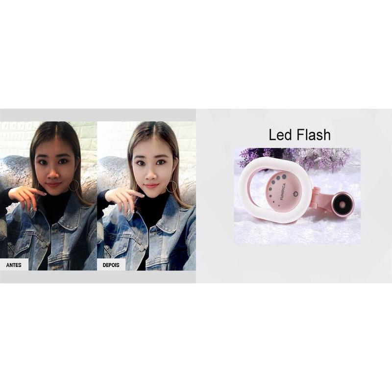 Funipica lente macro c/ flash F-518