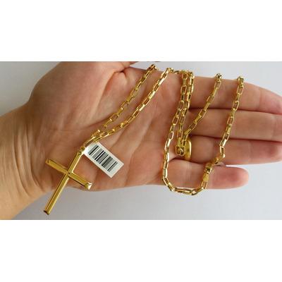 fa748eb397d Corrente Cordão Cartier Oca Alongada 60cm Masculino Ouro 18k R