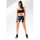 Shorts Estampado Light Plus Floral Dark