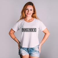CROPPED BRANCO - NUNCA NEM VI