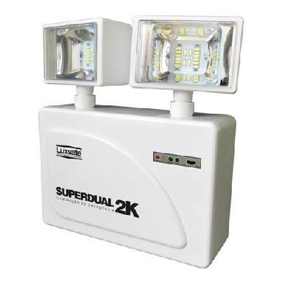 Encontre Luminária De Emergência Bloco Led 2080 Lumens Bivolt Luxsafe na danielEletro