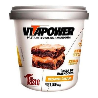 Pasta de Amendoim sabor Brownie Cream (1,005kg) Vitapower - GT00121