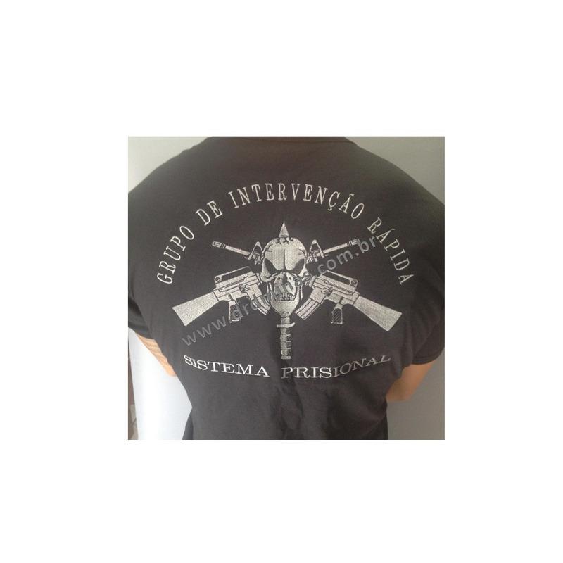 Camisa GIR - Preta  Bordada
