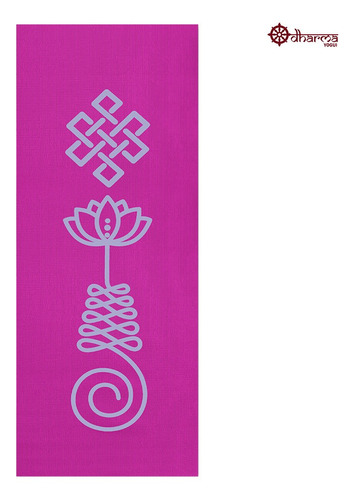 Tapete Yoga Rosa Estampa Unalome 1,73m - 4mm
