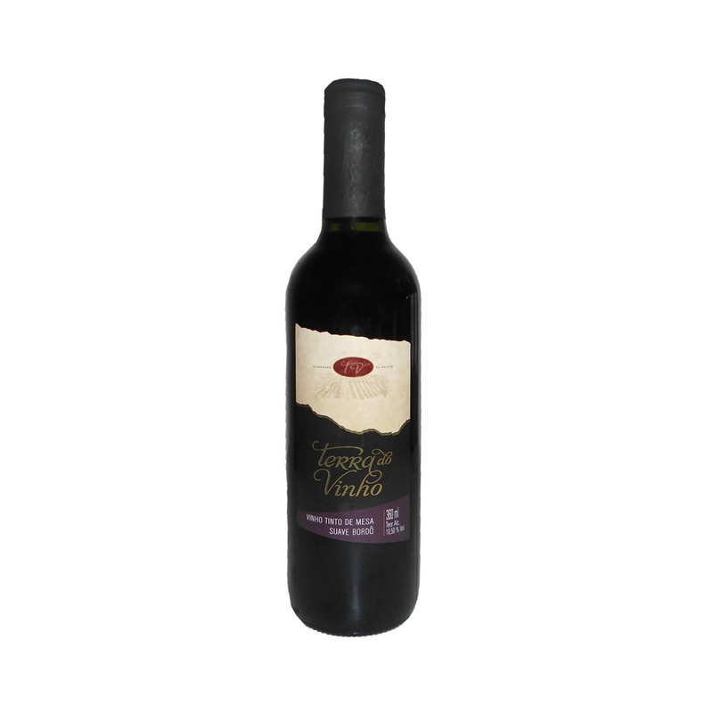 Vinho Tinto Suave Bordô 360ml - Adega Terra do Vinho
