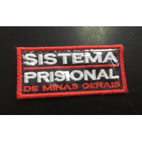Etiqueta Bordado Sistema Prisional -  U  - 9 x 5