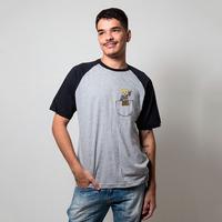 CAMISETA RAGLAN CINZA - AVATAR DE BOLSO