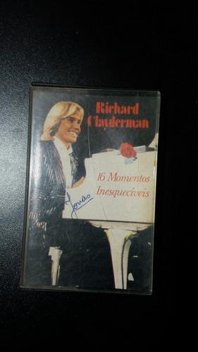 Fita K7 Cassete Richard Clayderman-16 Momentos Inesquecíveis Original