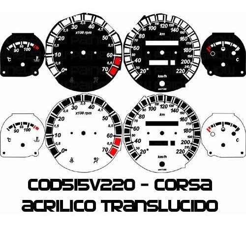Kit Translúcido P/ Painel - Cod515v220 - Corsa Com Contagiro Original