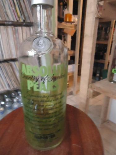 Vodka Absolut  Pears Vazia 1000ml  orgulhodoml2] Original