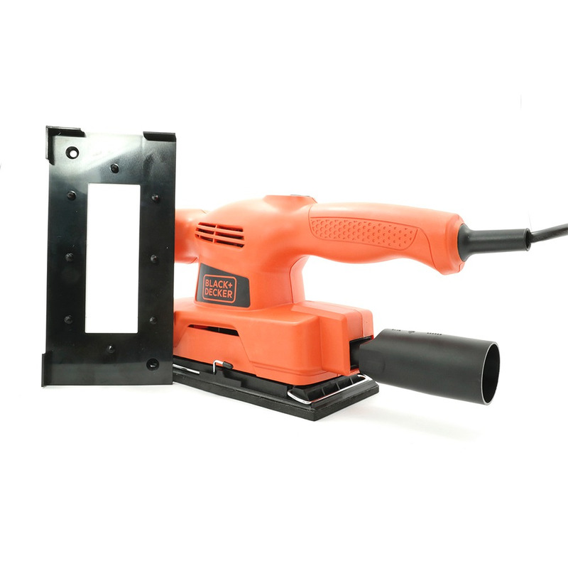 "Lixadeira Orbital 1/3"" de Lixa 135W Black+Decker - CD450"