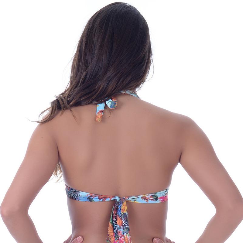 Top Summer Soul Frente Única Com Passantes Tropical Bronze