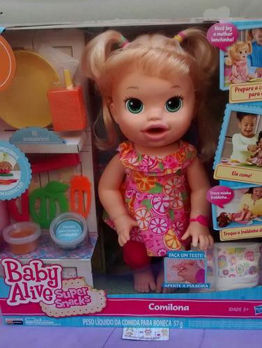 Boneca Baby Alive Comilona Loira (fala Português) Hasbro