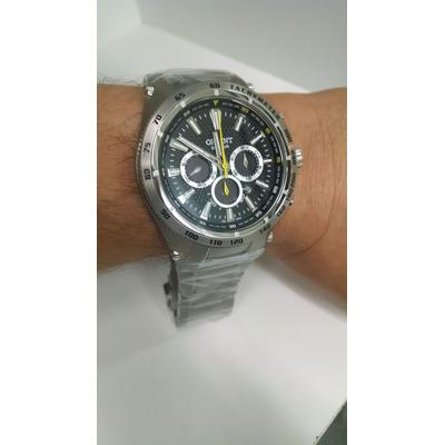17e43f5f9bb Relógio Orient Masculino + Solar Tech Titanium + Vidro de Safira MBTTC010  P1SX + Elegância + Esportividade + Garantia + Embalagem Original + Nota  Fiscal
