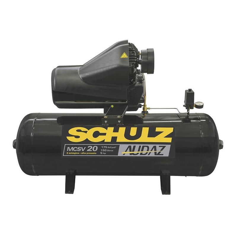 Motocompressor Ar Estac.De Pistão MCSV20 AP/150L-Schulz