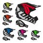Capacete Motocross Trilha Off Road Factory Neon Oculos