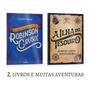 2 Livros Robinson Crusoé Daniel Defoe E A Ilha Do Tesouro