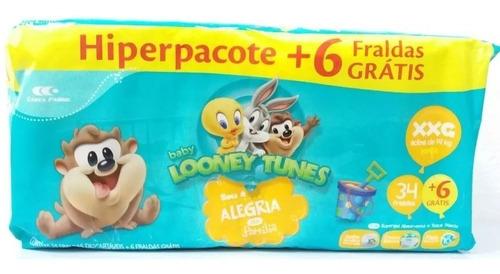 Fralda Descartável Infantil Atacado Looney Tunes Baby Xxg Original