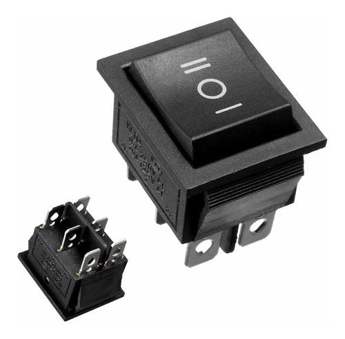 Chave Interruptor Botão 6 Pinos Liga/desliga/liga S/ Retorno Original