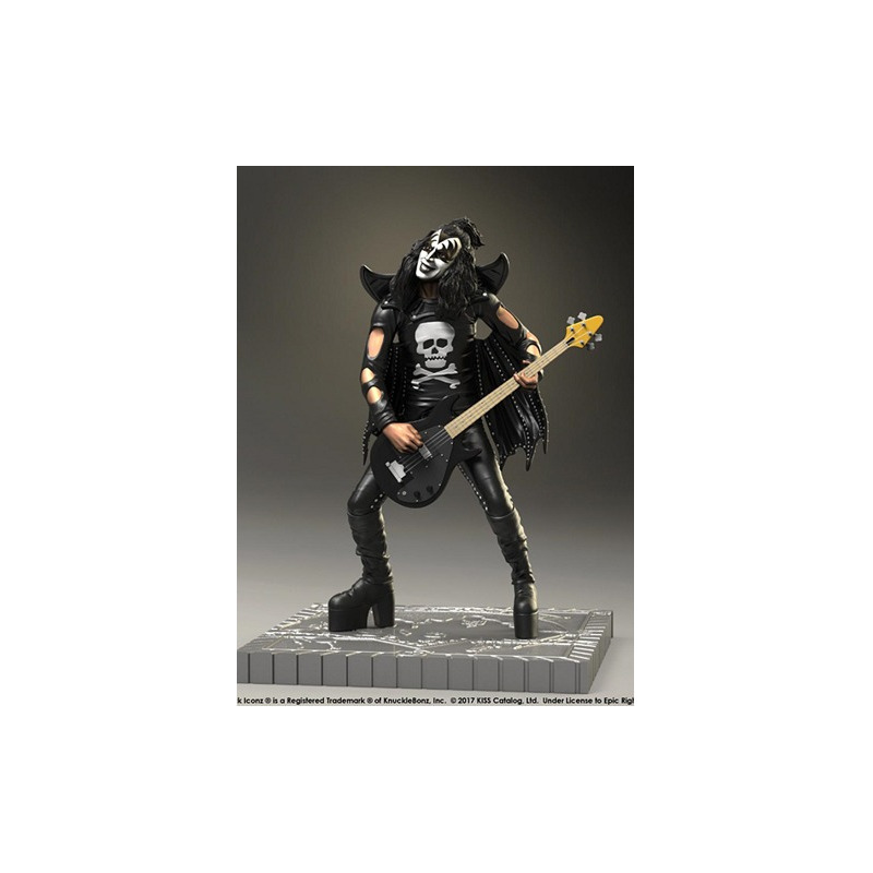 Estátua Kiss The Demon - Hotter Than Hell KnuckleBonz - Rock Iconz Statue