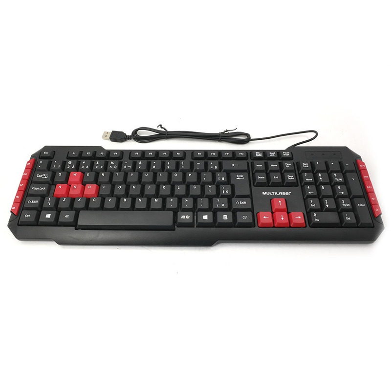 Teclado Multimídia Gamer Multilaser  TC160