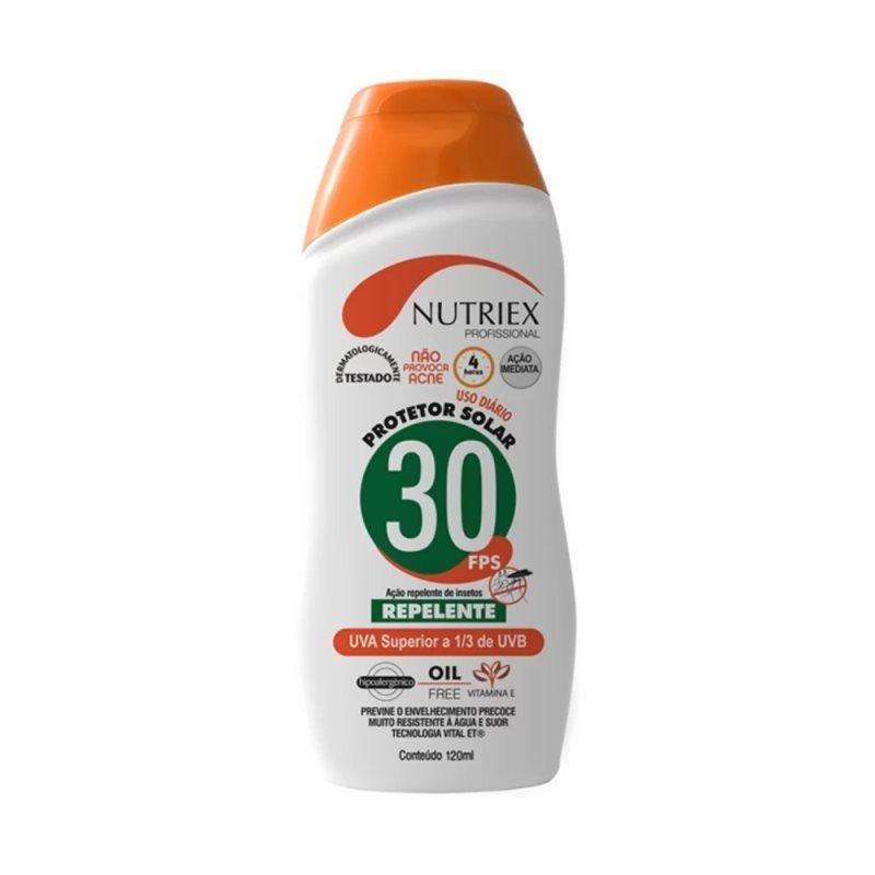Protetor Solar FPS 30 1/3 Uva com repelente 120ML-Nutriex