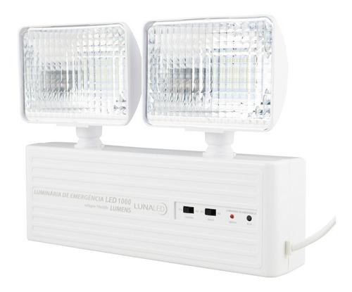 Luminária De Emergência 1000 Lumens 2 Farol Led Com Bateria Original