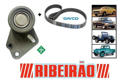 Kit Correia Dentada + Rolamento Tensor Jeep Rural Maverick F100 F75 - Original