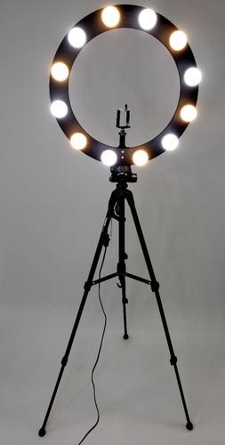 Ring Light 12 Soquetes 2em1 + Tripé + Kit Selfie Original