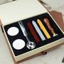 Kit Lacre Selos 3 Ceras 2 Velas Colher Sinete For You Letras