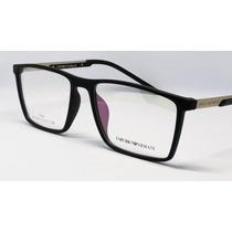 Armação P Oculos Masculino Preto Armani Tr90 Modelo Ea 138 c3012658c2